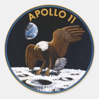 Apolo 11 etiquetas redondas