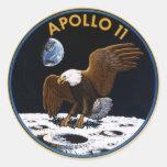 Apolo 11 pegatina redonda