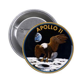 Apolo 11 pin redondo 5 cm
