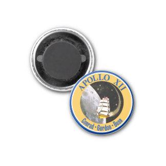Apolo 12: ¡De nuevo a la luna! Imán Redondo 3 Cm