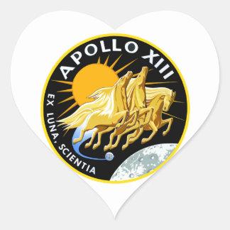Apolo 13: Supervivencia Pegatina En Forma De Corazón