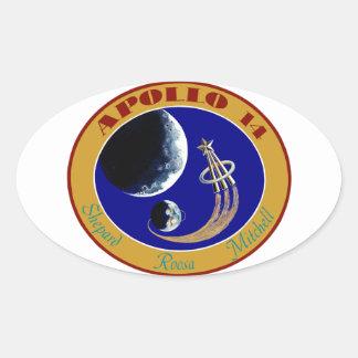Apolo 14:  Golf la luna Pegatina Ovalada