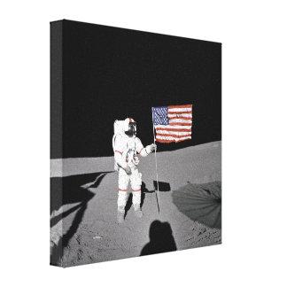 Apolo 14 lona envuelta para galerías