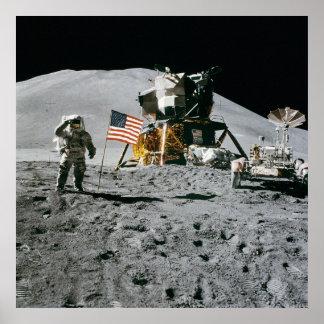 Apolo 15, Jim Irwin en la luna. Impresión enorme d Póster