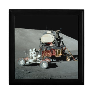 Apolo 17 - El alunizaje servido final Joyero Cuadrado Grande