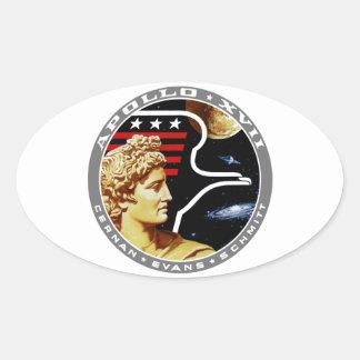 Apolo 17: ¡El final Hurrah! Pegatinas Ovaladas