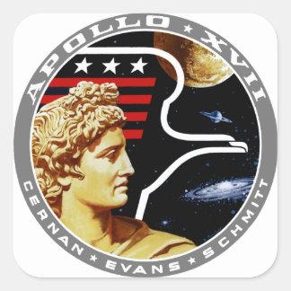Apolo 17: ¡El final Hurrah! Pegatina Cuadrada
