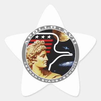 Apolo 17: ¡El final Hurrah! Pegatina En Forma De Estrella