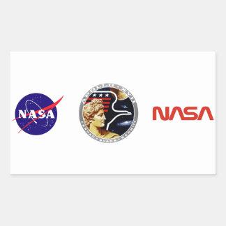 Apolo 17: ¡El final Hurrah! Pegatina Rectangular