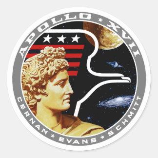 Apolo 17: ¡El final Hurrah! Pegatina Redonda