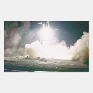 Apolo 17 quita rectangular pegatina