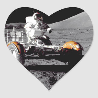 Apolo 17 Rover Pegatinas Corazon Personalizadas