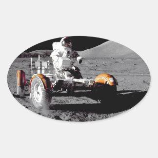 Apolo 17 Rover Pegatinas De Óval Personalizadas