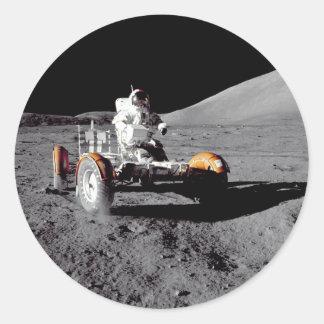 Apolo 17 Rover Pegatinas Redondas