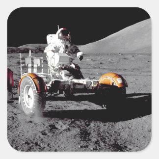 Apolo 17 Rover Calcomanía Cuadradas Personalizadas
