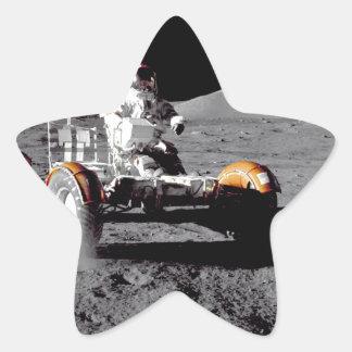 Apolo 17 Rover Calcomanías Forma De Estrella