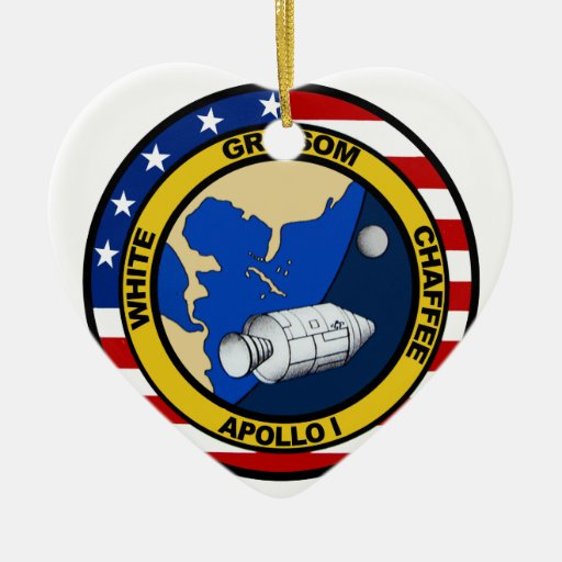 Apolo 1: Grissom, blanco y chaffee. Ornamento De Navidad