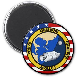 Apolo 1: Grissom, blanco y chaffee. Imán Redondo 5 Cm
