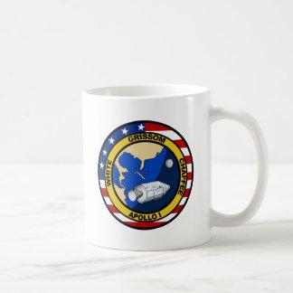 Apolo 1 Grissom blanco y chaffee Tazas
