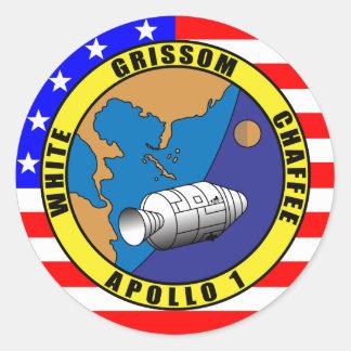 Apolo 1 pegatinas redondas