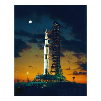 Apolo 4 Saturn V en el cojín un complejo 39 del la Fotos