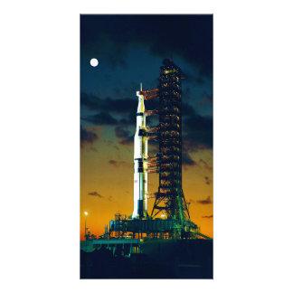 Apolo 4 Saturn V en el cojín un complejo 39 del la Tarjetas Fotográficas Personalizadas