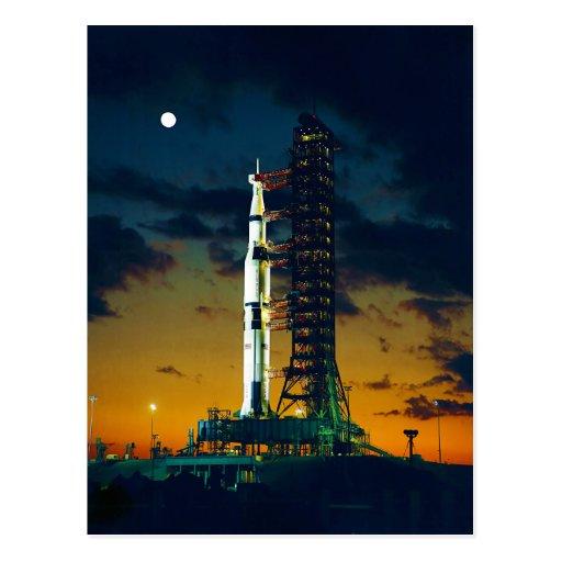 Apolo 4 Saturn V en el cojín un complejo 39 del la Tarjetas Postales