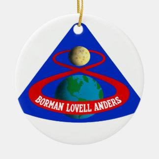 Apolo 8:  ¡Primeros hombres a la luna! Adorno Redondo De Cerámica