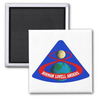 Apolo 8:  ¡Primeros hombres a la luna! Imán Cuadrado