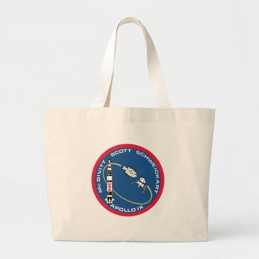 Apolo 9: McDivitt, Scott y Schweickart Bolsa De Tela Grande