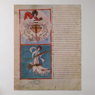 Apolo como el Sun y Diana como la luna Poster