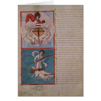 Apolo como el Sun y Diana como la luna Tarjeta