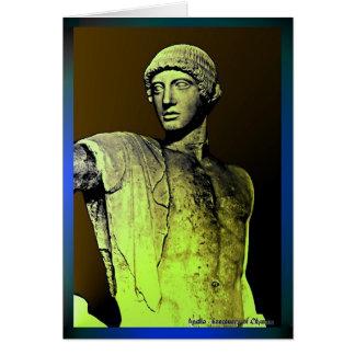 Apolo en el mirrow tarjeta de felicitación