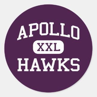 Apolo - halcones - High School secundaria - Etiquetas Redondas