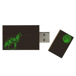 Apolo llama a casa memoria USB 2.0 de madera