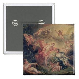 Apolo que revela su divinidad pin cuadrada 5 cm