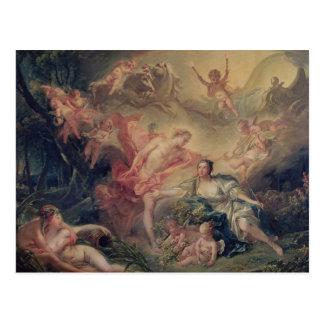 Apolo que revela su divinidad postal