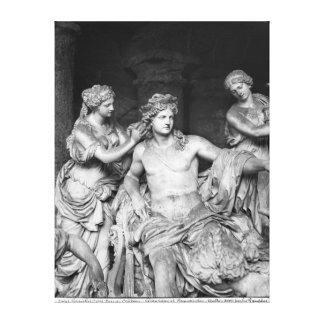 Apolo tendió al lado de las ninfas en la arboleda  lona envuelta para galerias