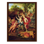 Apolo y Daphne por el retrete Jean-Baptiste Van (e Tarjeta Postal