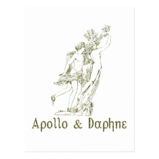 Apolo y Daphne Tarjeta Postal
