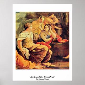 Apolo y el detalle de las musas de Simon Vouet Poster