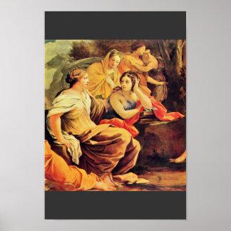Apolo y las musas, detalle de Vouet Simon Poster