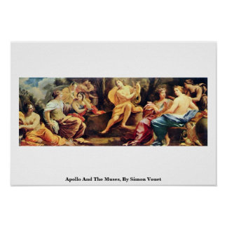 Apolo y las musas, por Simon Vouet Posters