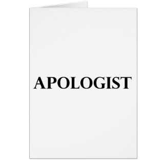 Apologist Card