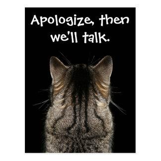 Apologize, then we'll talk postcard