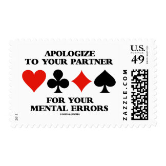 Apologize To Your Partner For Your Mental Errors Stamp