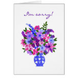 Apology Card - Flower Power