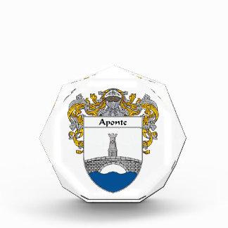 Aponte Coat of Arms Family Crest Acrylic Award