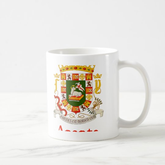 Aponte Puerto Rico Shield Coffee Mug