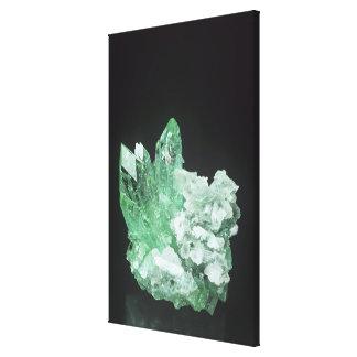 Apophyllite crystals with Stilbite, Jalgaon, Mahar Canvas Print